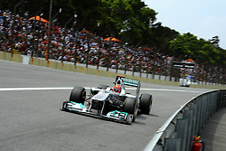 26.11.2011, Autodromo Jose Carlos Pace, Sao Paulo, BRA, F1, Grosser Preis von Brasilien, im Bild Michael Schumacher (GER), Mercedes GP // during the Formula One Championships 2011 Grand Prix of Brazil held at the Autodromo Jose Carlos Pace, Sao Paulo, Brazil on 2011/11/26. EXPA Pictures © 2011, PhotoCredit: EXPA/ nph/ Dieter Mathis..***** ATTENTION - OUT OF GER, CRO *****