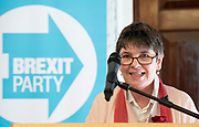 Brexit Party launch event<br /> Nigel Farage and Richard Tice, party chairman launch the next tranche of Brexit Party candidates at an event in London, Great Britain <br /> House Terrace<br /> 23rd April 2019<br /> <br /> New candidates standing for the Brexit Party in the European Parliament Elections in May 2019 <br /> <br /> <br /> Claire Fox<br /> Writer, free speech campaigner <br /> <br /> Photograph by Elliott Franks
