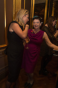 ANNALIES VAN DEN BELT;, BARONESS NEVILLE-ROLFE, The launch of the 1939 Register, hosted by The National Archives and Findmypast to celebrate one of the most important documents in modern British history. POMPADOUR BALLROOM, HOTEL CAF&Eacute; ROYAL<br /> 68 Regent Street, London. 3 November 2015