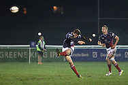Peter Lydon scores a penalty during the British &amp; Irish Cup match between London Scottish &amp; Connacht Eagles at Richmond, Greater London on Friday 29th November 2014<br /> <br /> Photo: Ken Sparks | UK Sports Pics Ltd<br /> London Scottish v Connacht Eagles, British &amp; Irish Cup,29th November 2014<br /> <br /> &copy; UK Sports Pics Ltd. FA Accredited. Football League Licence No:  FL14/15/P5700.Football Conference Licence No: PCONF 051/14 Tel +44(0)7968 045353. email ken@uksportspics.co.uk, 7 Leslie Park Road, East Croydon, Surrey CR0 6TN. Credit UK Sports Pics Ltd