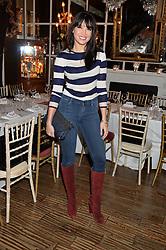 DAISY LOWE at a dinner for JF London x Kyle DeVolle held at Beach Blanket Babylon, Ledbury Road, London on 29th September 2016.