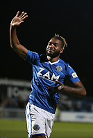 Football - 2018 / 2019 EFL Carabao Cup (League) Cup - First Round: Macclesfield Town vs. Bradford City<br /> <br /> Tyrone Marsh of Macclesfield Town celebrates scoring the winning penalty at Moss Rose.<br /> <br /> COLORSPORT/LYNNE CAMERON