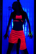 The effects of UV (black light) on reflective clothing - Orange