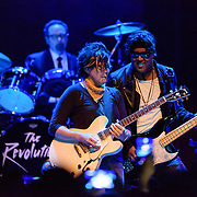 "SILVER SPRING, MD - April 27th, 2017 - Robert ""Bobby Z"" Rivkin, Wendy Melvoin and Mark ""Brownmark"" Brown of The Revolution perform at the Fillmore Silver Ring in Silver Spring, MD. The Revolution played on most of Prince's biggest hits and have returned to the road in the wake of his 2016 death. (Photo by Kyle Gustafson / For The Washington Post)"