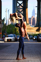 Dance As Art Photography Project- Dumbo Brooklyn, New York with dancers Imani Williams and Jenny Bohlstrom