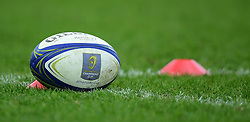 Champions cup ball  - Mandatory by-line: Alex Davidson/JMP - 13/01/2018 - RUGBY - Sandy Park Stadium - Exeter, England - Exeter Chiefs v Montpellier - European Rugby Champions Cup