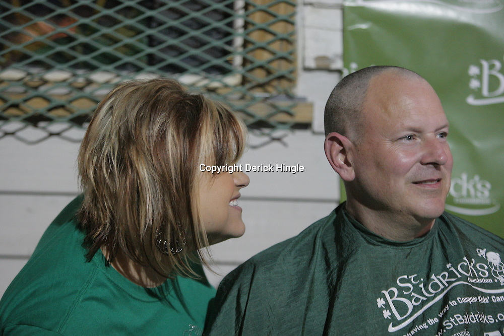 12 March 2009: during the annual St. Baldrick's charity fund raiser held at Parasol's Bar in the Irish Channel of New Orleans, Louisiana.