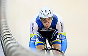 Australia's Jacob Schmid competes in the (ME) sprint in the Avanti BikeNZ Classic, Avantidrome, Cambridge, New Zealand, Thursday, September 18, 2014, Credit: Dianne Manson/BikeNZ