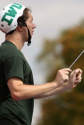 28 September 2013:  IWU pep band conductor during an NCAA division 3 football game between the Hope College Flying Dutchmen and the Illinois Wesleyan Titans in Tucci Stadium on Wilder Field, Bloomington IL