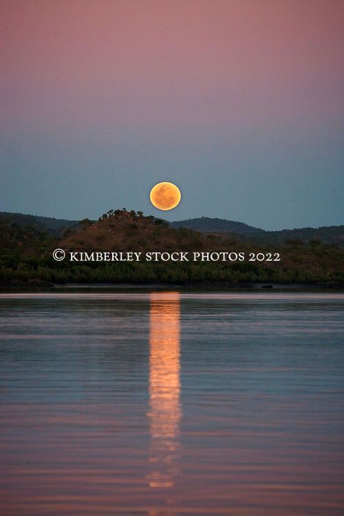 A beautiful staircase to the moon over the Prince Regent River on the Kimberley coast.