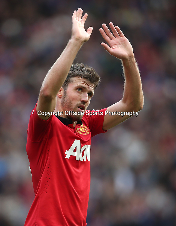 14th September 2013 - Barclays Premier League - Manchester United v Crystal Palace - Michael Carrick of Man Utd - Photo: Simon Stacpoole / Offside.