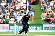 Jimmy Neesham of the Black Caps during the ANZ One Day International match between the Black Caps and Bangladesh, played at the University Oval, Dunedin, New Zealand, on February 20, 2019. Copyright Image: Joe Allison / www.Photosport.nz