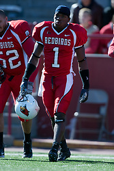 14 October 2006: Jesse Caesar (1).&#xD;The 6th largest crowd at Hancock Stadium came to watch a game that put 8th ranked Southern Illinois Salukis against 5th ranked Illinois State University Redbirds.  The Redbirds stole the show for a Homecoming win by a score of 37 - 10. Competition commenced at Hancock Stadium on the campus of Illinois State University in Normal Illinois.<br />