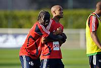 Fotball<br /> Frankrike<br /> Foto: DPPI/Digitalsport<br /> NORWAY ONLY<br /> <br /> FOOTBALL - MISCS 2009/2010 - FRANCE TRAINING - 1/09/2009<br /> <br /> GAEL CLICHY / BAKARI SAGNA