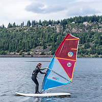 Windsurfing in Hood River, Oregon