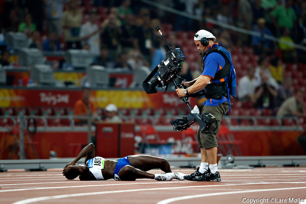 DK Caption: <br /> 20080819, Peking, Kina:  Beijing 2008 Olympic Games / Olympiske Lege. Atletik, 200 m semifinale: Atletik, 400 m finale kvinder: Guld vinder Christine Ohuruogu (Great Britain)<br /> Foto: Lars M&oslash;ller<br /> UK Caption: <br /> 20080819, Beijing, China:  Beijing 2008 Olympic Games / Olympiske Lege. Athletics, 400 m final women: Gold winner Christine Ohuruogu (Great Britain)<br /> Photo: Lars Moeller