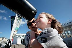 UK ENGLAND BRIGHTON 8SEP16 - Beth Waraner (32) from Brighton and her daughter Elsie (4)  enjoy the Brighton beach front.<br /> <br /> jre/Photo by Jiri Rezac<br /> <br /> © Jiri Rezac 2016