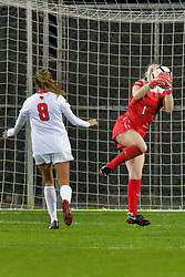 NORMAL, IL - October 17:  Haley Smith during an NCAA Missouri Valley Conference (MVC)  women's soccer match between the Indiana State Sycamores and the Illinois State Redbirds October 17 2018 on Adelaide Street Field in Normal IL (Photo by Alan Look)