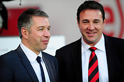 Peterborough United Manger, Darren Ferguson and Cardiff City Manger, Malky Mackay exchanges words before the game - Photo mandatory by-line: Dougie Allward/JMP  - Tel: Mobile:07966 386802 15/12/2012 - SPORT - FOOTBALL -  Championship -  Cardiff-  New Cardiff City Stadium  -  Cardiff City v Peterborough United