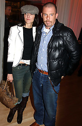 ALEXANDER MCQUEEN and ANNABEL NEILSON at the annual Laurent Perrier Pink Party held at The Sanderson Hotel, Berners Street, London on 27th April 2005.<br />