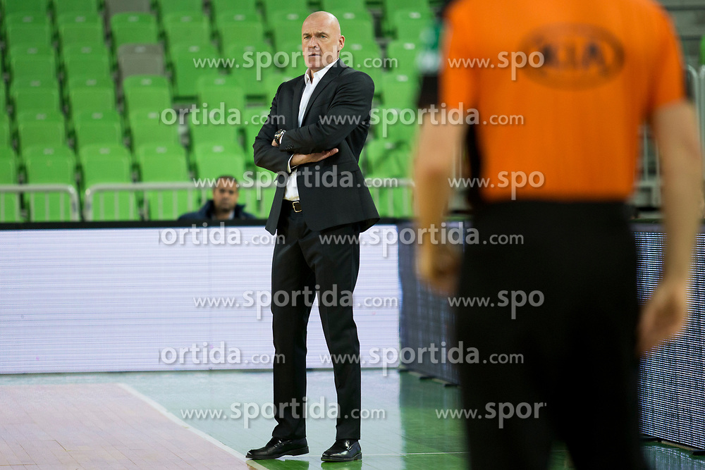 Aramis Naglic, head coach of Zadar during basketballl match between KK Petrol Olimpija Ljubljana and Zadar in Round #22 of ABA League 2017/18, on March 11, 2018 in Arena Stozice, Ljubljana, Slovenia. Photo by Urban Urbanc / Sportida