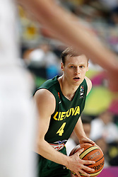 11.09.2014, City Arena, Barcelona, ESP, FIBA WM, USA vs Litauen, Halbfinale, im Bild Lithuania's Martynas Pocius // during FIBA Basketball World Cup Spain 2014 semi-final match between United States and Lithuania at the City Arena in Barcelona, Spain on 2014/09/11. EXPA Pictures © 2014, PhotoCredit: EXPA/ Alterphotos/ Acero<br /> <br /> *****ATTENTION - OUT of ESP, SUI*****