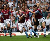 Photo: Rich Eaton.<br /> <br /> Aston Villa v Newcastle United. The Barclays Premiership. 27/08/2006. Luke Moore #22 of Aston Villa celebrates scoring his teams first goal