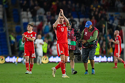 CARDIFF, WALES - Friday, September 6, 2019: Wales' captain Gareth Bale applauds the supporters after the UEFA Euro 2020 Qualifying Group E match between Wales and Azerbaijan at the Cardiff City Stadium. (Pic by Mark Hawkins/Propaganda)