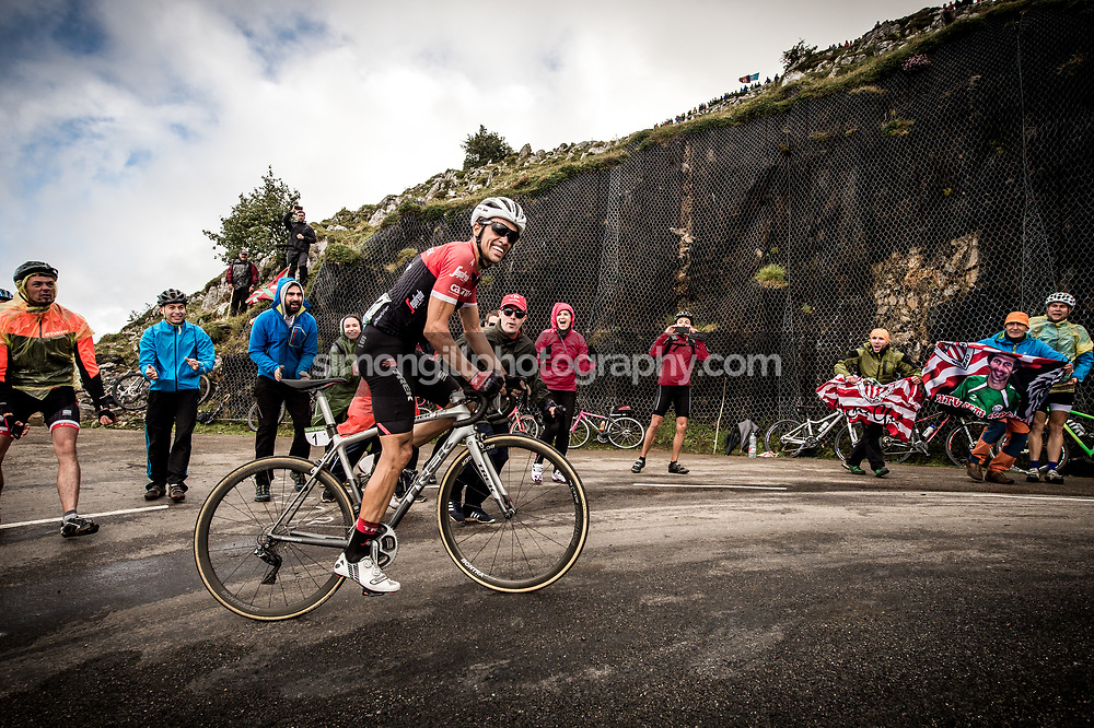 September 9th 2017, Alto de L'Angliru, Spain; Cycling, Vuelta a Espana Stage 20; Alberto Contador.