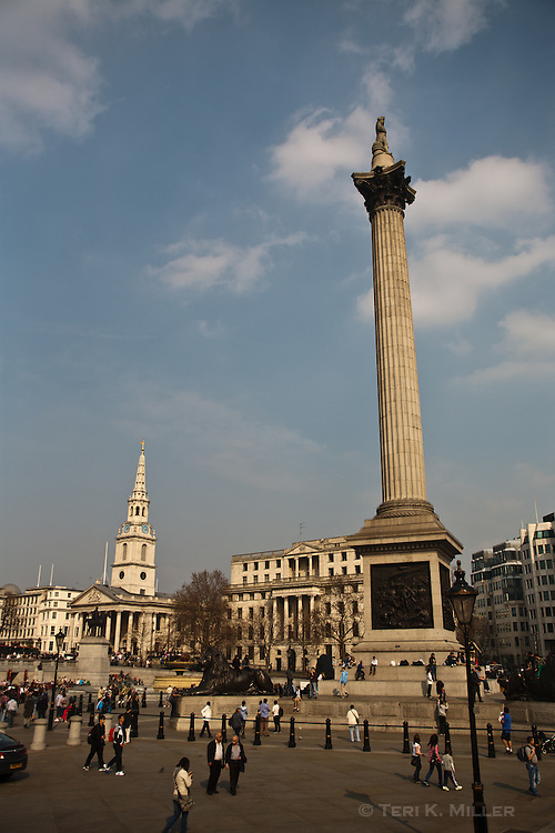 Trafalgar Square, London, England.