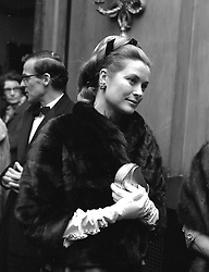 PRINCESS GRACE OF MONACO at a Gala at Covent Garden Opera House, London on March 26th 1969.