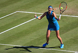 Czech Republic's Petra Kvitova in action during her quarter final against Germany's Julia Goerges during day five of the Nature Valley Classic at Edgbaston Priory, Birmingham.