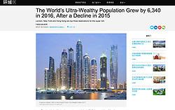 Mansion Global website; skyline of Dubai
