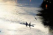 Roma  24 Luglio  2005 .In Canoa sul Tevere.<br /> Canoeing on the River Tiber