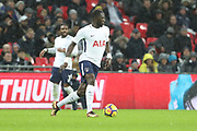 Moussa Sissoko of Tottenham Hotspur (17)  dribbling during the Premier League match between Tottenham Hotspur and Brighton and Hove Albion at Wembley Stadium, London, England on 13 December 2017. Photo by Matthew Redman.