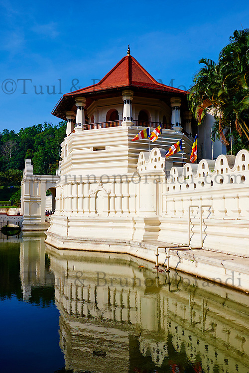 Sri Lanka, province du centre, Kandy, ville classée patrimoine mondial de l'UNESCO, Temple de la Dent (Sri Dalada Maligawa) qui renferme une relique de dent de Bouddha //<br /> Sri Lanka, Ceylon, North Central Province, Kandy, UNESCO World Heritage city, Tooth's temple