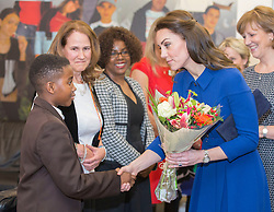LONDON- UK- 11th Jan 2017. The Duke and Duchess of Cambridge visit a Child Bereavement UK Centre in Stratford, as this London Centre marks its one year anniversary.<br />  <br /> The Duke, as Royal Patron and Duchess were introduced to local professionals, and volunteers who work at the service, before meeting families and children who have been supported by the charity. Together, Their Royal Highnesses attended one of the charity&rsquo;s Family Support Group sessions where children, their parents, and carers can meet other families <br /> <br /> Photograph by Ian Jones