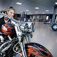 Nederland, Amsterdam , 24 augustus 2011..De regio Amsterdam is binnenkort een nieuw Authorized Harley-Davidson Dealership rijker. En het betreft niet zomaar een Dealership. De Dealer Principal is namelijk niemand minder dan Simone Bokma, 'Motorvrouw van het jaar 2010'. Daarbij is zij één van de weinige vrouwelijke Dealer Principals ter wereld..Foto:Jean-Pierre Jans