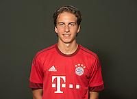 German Soccer Bundesliga 2015/16 - Photocall of FC Bayern Munich on 16 July 2015 in Munich, Germany: Gianluca Gaudino