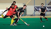 Dwayne Rowsell in action for New Zealand, Junior Black Sticks Men vs Malaysia Juniors international Under 21 Hockey, 7 June 2011, Alexander McMillan Hockey Centre Dunedin, New Zealand. Photo: Richard Hood/photosport.co.nz