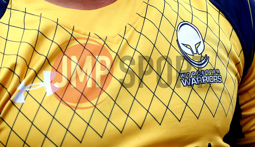 Worcester Warriors logo on the shirt - Mandatory by-line: Robbie Stephenson/JMP - 30/07/2016 - RUGBY - Kingston Park - Newcastle, England - Worcester Warriors v Sale Sharks - Singha Premiership 7s