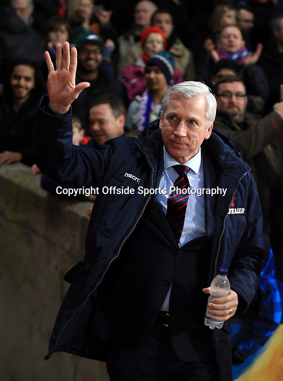14 February 2015 - The FA Cup Fifth Round - Crystal Palace v Liverpool - Alan Pardew manager of Crystal Palace - Photo: Marc Atkins / Offside.