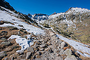 Snowed path in Sierra de Gredos (Spain)