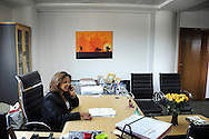 Floor brokers at the Ethiopia commodity Exchange in Addis Ababa. <br /> Eleni Gabre-Madhin, ECX chief exec. at her office.