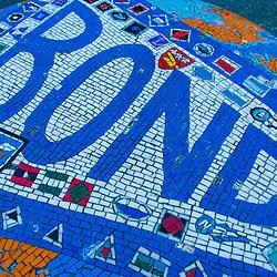 Surfing Mosaic, Bondi Beach, Sydney,, New South Wales, Australia, US
