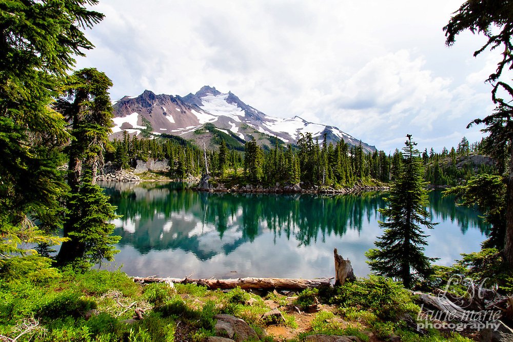 Mount Jefferson Wilderness reflected in a lake