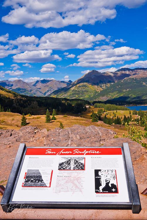 Molas Pass viewpoint, San Juan Skyway (Highway 550), San Juan National Forest, Colorado