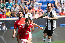July 28, 2018 - Harrison, New Jersey, United States - Juventus forward LUCA CLEMENZA (38) watches his shot land in the back of the net during the International Champions Cup at Red Bull Arena in Harrison, NJ.  Juventes defeats SL Benfica 1-1  (Credit Image: © Mark Smith via ZUMA Wire)