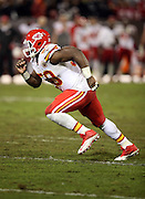 Kansas City Chiefs outside linebacker Justin Houston (50) chases the action during the NFL week 12 regular season football game against the Oakland Raiders on Thursday, Nov. 20, 2014 in Oakland, Calif. The Raiders won their first game of the season 24-20. ©Paul Anthony Spinelli