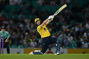 Adam Hose of Birmingham Bears batting during the NatWest T20 Blast South Group match between Surrey County Cricket Club and Warwickshire County Cricket Club at the Kia Oval, Kennington, United Kingdom on 25 August 2017. Photo by Dave Vokes.